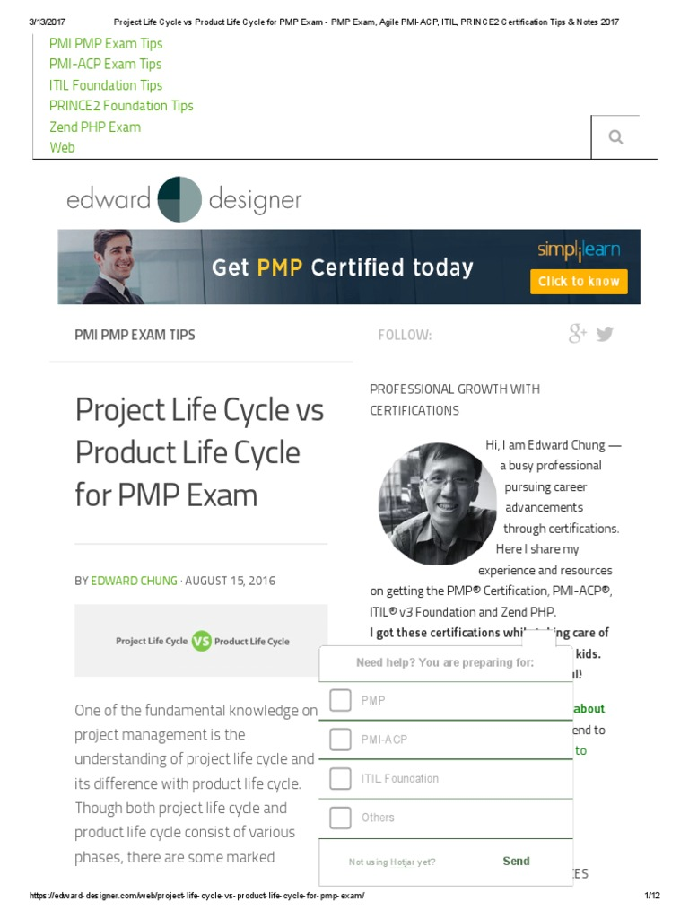 Project life cycle vs product life cycle for pmp exam pmp exam project life cycle vs product life cycle for pmp exam pmp exam agile pmi acp itil prince2 certification tips notes 2017pdf project management xflitez Image collections