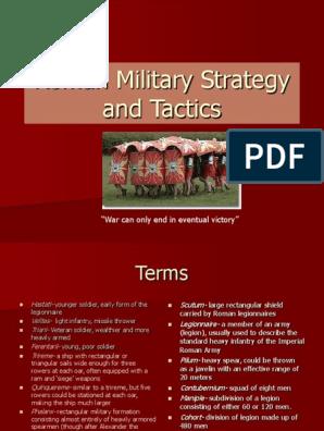 Roman Military Strategy and Tactics | Roman Legion | Ancient Rome