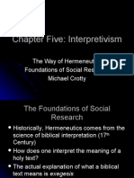 The Foundations of Social Research Ch 5