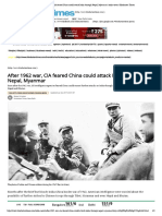After 1962 War, CIA Feared China Could Attack India Through Nepal, Myanmar _ India-news _ Hindustan Times