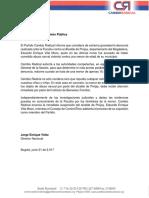 Comunicado Cambio Radical ante caso Eduardo Villa Mozo
