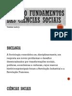 Revisão Fundamentos das Ciências Sociais AV2