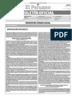 Diario Oficial El Peruano, Edición 9734. 22 de junio de 2017