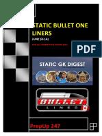 Static Bullet Liners June (8-14)