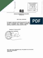 Carta de la Fiscalía Superior de Catalunya al Parlament