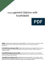 Management Options FirePOWER