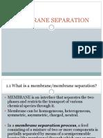 Membrane Separation Final