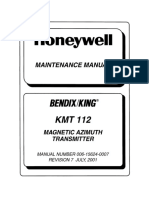 King KMT-112 Maintenance manual