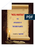 Mool Mantras for Appeasement of the Nine Planets