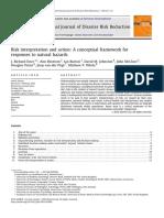 Eiser (2012) Risk Interpretationandaction Aconceptualframeworkfor Responses to Natural Hazards