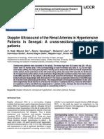 Doppler Ultrasound of the Renal Arteries in Hypertensive Patients in Senegal