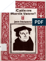 BUSQUETS, J., Quien Era Martin Lutero, Sigueme, 1986