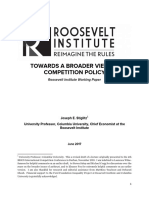 Towards A Broader View of Competition Policy