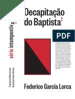 A DEGOLAÇÃO DO BATISTA, GARCÍA LORCA