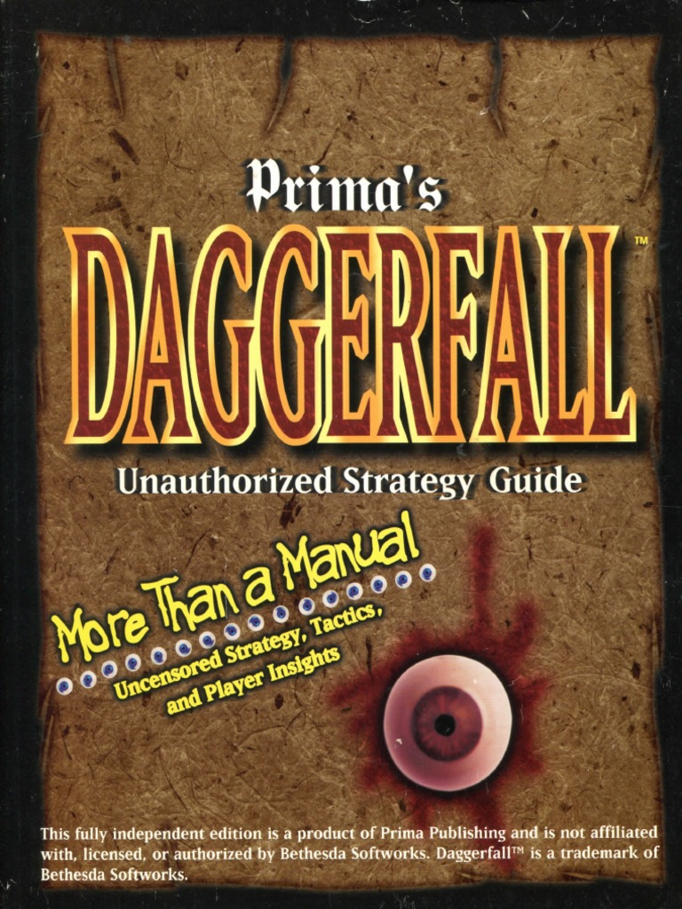 Prima Daggerfall Unofficial Strategy Guide   Video Games