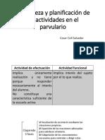 Naturaleza y Planificacion de Las Actividades en Los Parvularios (Exposicion Grupos en La Escuela)