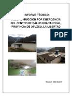 Informe Técnico Centro de Salud Huaranchal