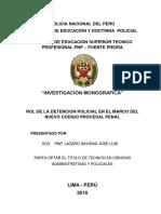 Monografia Pnp La Detencion en El Marco Del Nuevo Codigo