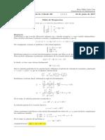 Corrección Segundo Parcial de Cálculo III, 22 de junio  de 2017