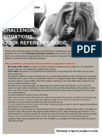 Challenging Situations Summary