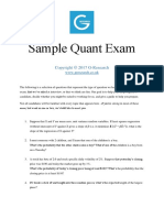 G-Research Sample Questions 2017