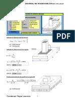 Plantilla Excel para el diseño de zapatas céntricas & aisladas
