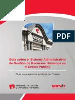 MINJUS DGDOJ Guía Sobre El Sistema Administrativo Servir