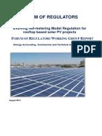 Net Metering Model for Rooftop Based Solar Pv ProjectsReport
