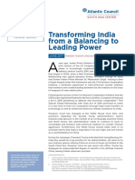 Transforming India from a Balancing to Leading Power