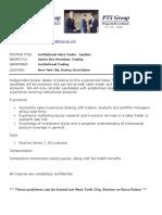 Sales Trader PositionDescription