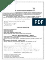 sugestões de atividades psicomotoras