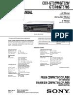 Sony Cdx-gt320 Gt32w Gt370 Gt370s