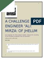 Refuting Ali Mirza Jhelumi:CAN ENGINEER ALI MIRZA EXPLAIN VERSE 16:40 ACCORDING TO HIS OWN PRINCIPLES