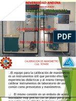 Calibración de ManometroUANCV