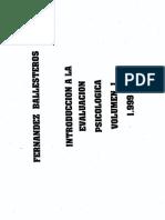 Fernandez-Ballesteros (1999) - Introducción a La Evaluación Psicológica Vol. I