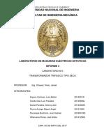 Informe 3 - El Transformador Trifasico Tipo Seco