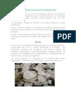 Usos de Rocas Geologia