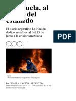 Venezuela, Al Límite Del Estallido