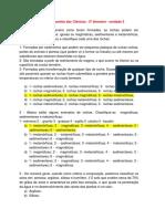 6º ANO Companhia Das Ciências 2º Bimestre PROVA