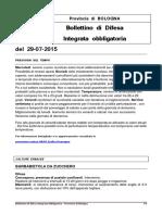 Bollettino Del 2015.07.29