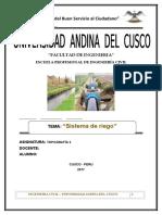Sitema de Riego