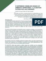 Rol de los SS.·.CC.·. Gr.·. 33°en el Ordenamiento Territorial y la Gestión Ecológica de las Ciudades - S.·.C.·. de España