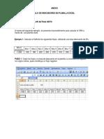 Calculo de Indicadores Planilla Excel