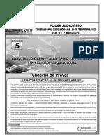 Aula 009 - Prova 3 - TRT 21ª Região - Analista Judiciário - Arquivologia
