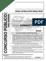 Aula 15 - Prova 5 - TRE-MT - Analista Judiciário - Administrativo