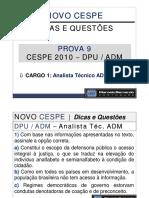 Aula 31 - Prova 9 - DPU-ADM - Analista Técnico