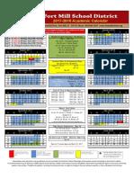 2017-2018 academic calendar final