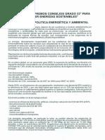 Rol  de los SS.·.CC.·. Gr.·. 33° para Promover Energias sostenibles - S.·.C.·. del Portugal