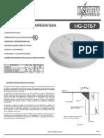 Detector de Temperatura Hg Dt57 Bw Temperatura