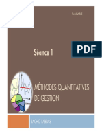 S1 Méthodes Quantitatives de Gestion